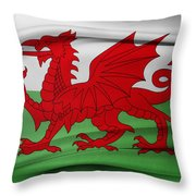 Welsh Flag Throw Pillow