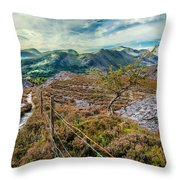 Welsh Mountains Throw Pillow
