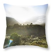 West Coast Range Landscape In Tasmania Australia Throw Pillow