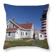 West Quoddy Lighthouse Throw Pillow