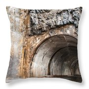 West Tunnel On Going To The Sun Road Throw Pillow