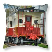 Western Maryland Caboose  Throw Pillow