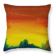 Western Sunset Throw Pillow by Steve Jorde