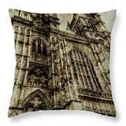 Westminster Abbey London Vintage Throw Pillow
