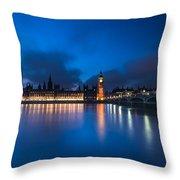 Westminster Blue Hour Throw Pillow