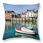 Weymouth Harbour Throw Pillow