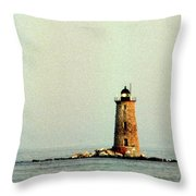 Whaleback Lighthouse Throw Pillow