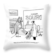 What Do You Have For Planet-warming Gas Throw Pillow