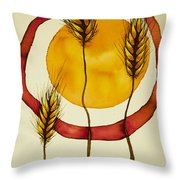 Wheat And Sun Throw Pillow