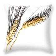 Wheat On White Throw Pillow
