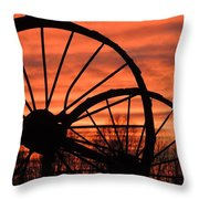 Wheel-n-axle Sunset.. Throw Pillow