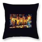 When The City Sleeps Throw Pillow by Leonid Afremov