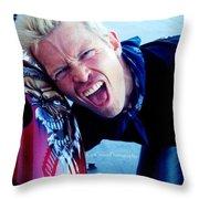 Billy Idol - Whiplash Smile Throw Pillow