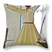 Whirling Dervish Model In Konya-turkey  Throw Pillow
