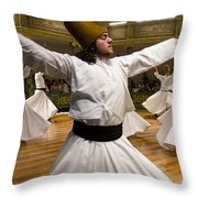 Whirling Dervishes Throw Pillow