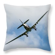 Whiskey 7 Goes To War Throw Pillow