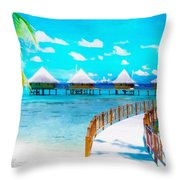 White Bay Throw Pillow