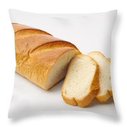 White Bread With Slices Throw Pillow