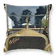 White Motors Throw Pillow
