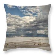 White Sands Rain Throw Pillow