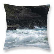 White Surf Throw Pillow