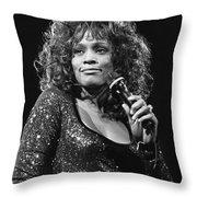 Whitney Houston Throw Pillow
