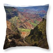 Wiamea Depth Throw Pillow by Mike  Dawson