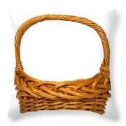 Wicker Basket Number Eleven Throw Pillow