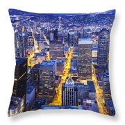 Wide Seattle Cityscape Throw Pillow
