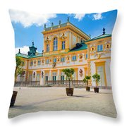 Wilanow Palace In Warsaw Poland Throw Pillow
