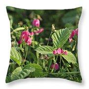 Wild Grass Flower Throw Pillow