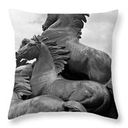Wild Mustang Statue Throw Pillow