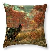 Wild Turkey Throw Pillow by Daniel Eskridge