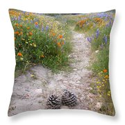 Wildflower Wonderland 11 Throw Pillow