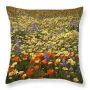 Wildflower Wonderland 9 Throw Pillow