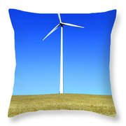 Wind Powered Electric Turbine Throw Pillow