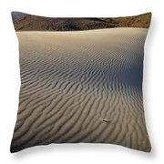 Wind Traces At The Desert Throw Pillow