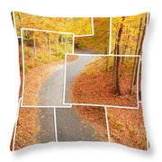 Winding Alley In Fall Throw Pillow