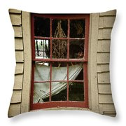 Window - Glimpse Into The Past Throw Pillow