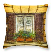 Window In Rome Throw Pillow