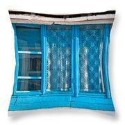 Window Of Soviet Building Throw Pillow