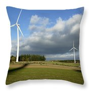 Windturbines Throw Pillow
