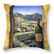 Wine And Lavender Throw Pillow