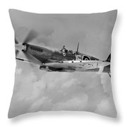 Wing Commander Johnnie Johnson Throw Pillow