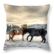 Winter Challenge Throw Pillow by Skye Ryan-Evans
