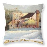 Winter Hush Holiday Card1 Throw Pillow