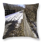 Winter On Macomb Orchard Trail Throw Pillow