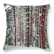 Winters Forest Throw Pillow