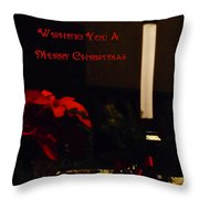 Wishing You A Merry Christmas Throw Pillow
