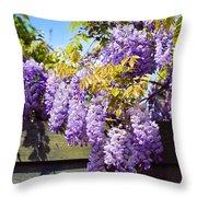 Wisteria Garden 8 Throw Pillow